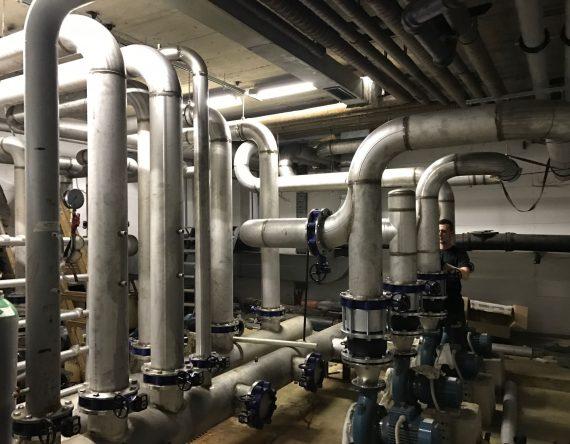 Strojne instalacije za hladilno strojnico