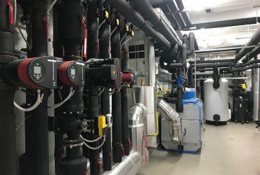 Večja kotlovnica, ki jo je podjetje HVAC montaža montiralo v Gornji radgoni